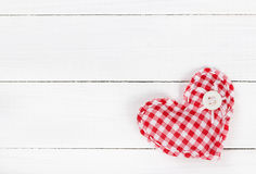 Two fabric heart for Valentines day Royalty Free Stock Photography