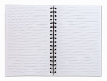 Two face open white notebook royalty free stock photo
