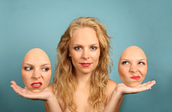 Two Faced Woman Royalty Free Stock Photo