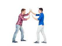 Two faced young men Royalty Free Stock Photography