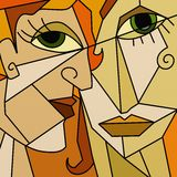 Two faces abstract. Design with two faces abstract Royalty Free Stock Photography