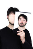Two faces amazed Stock Image