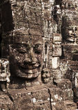 Two Faces of The Bayon Stock Images