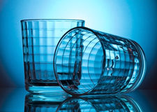 Two faceted glass Stock Images