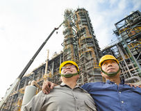 Two Factory workers standing together Royalty Free Stock Photos