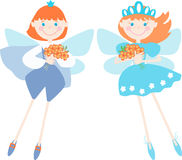 Two fairy elves Stock Image