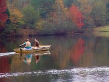 Two fall fishermen Stock Image
