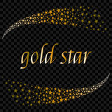 Two falling Christmas star ray background with glittering meteor flying towards each other. Vector illustration. Gold star. Festiv. E new year greeting card Royalty Free Stock Images