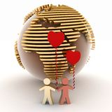 Two falling in love Royalty Free Stock Images