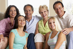 Two Families Together Stock Photos