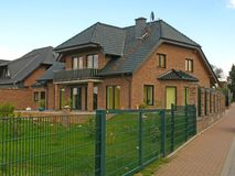 Two-family house. In Germany Stock Photos