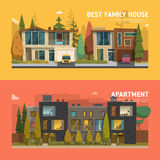 Two family houses Royalty Free Stock Images