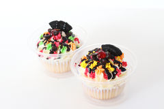Two fancy cupcake Royalty Free Stock Images