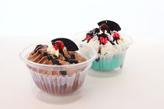 Two fancy cupcake Royalty Free Stock Photo