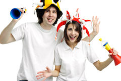 Two fans Royalty Free Stock Photo