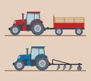 Free Two Farm Tractors Isolated On Beige Background. Royalty Free Stock Photography - 109277347