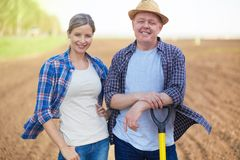 Two farmers Royalty Free Stock Images