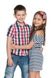 Two fashion cheerful kids Royalty Free Stock Photography