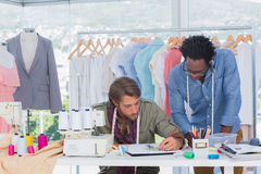 Two fashion designers working together Royalty Free Stock Photography