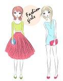Two fashion girls Stock Photo