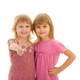 Two fashion little girls Stock Photography