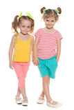 Two fashion little girls Royalty Free Stock Photos