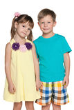Two fashion little kids Royalty Free Stock Image