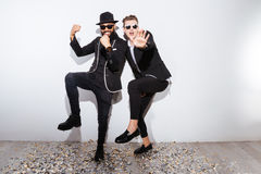 Two fashion man dancing Stock Photo