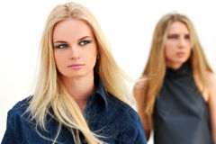 Two fashion model Royalty Free Stock Images