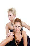 Two fashion models Royalty Free Stock Photos