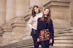 Two fashion models posing Stock Photos