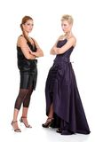 Two fashion models waiting Stock Images