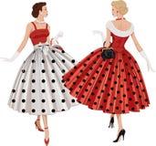 Two fashion women vector illustration