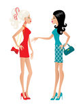 Two fashionable females Royalty Free Stock Image