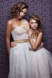 Two fashionable models Royalty Free Stock Photography