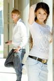 Two Fashionable Teenagers Royalty Free Stock Photography