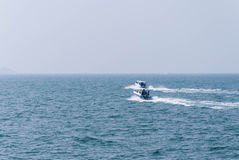Two fast boat (Speed boat) in the sea Royalty Free Stock Images