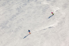 Two Fast Skiers Stock Image