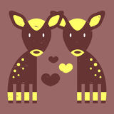 Two fawns in love Royalty Free Stock Images