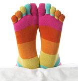 Two feet in stockings Stock Photography