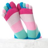 Two feet in stockings Stock Images