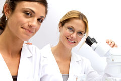 Two Femal Scientists Working Together Royalty Free Stock Photography