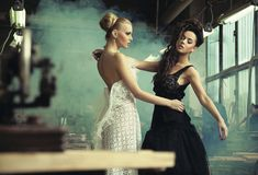 Two female beauties Royalty Free Stock Image