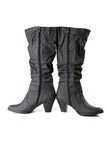 Two female black boots Stock Image