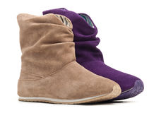 Two female boots Royalty Free Stock Photography