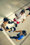 Two Female Boxers At Training Stock Photography