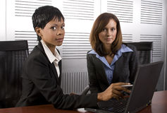 Two female business Royalty Free Stock Photo