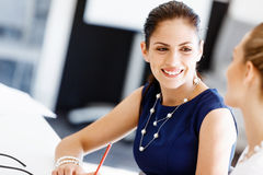 Two female colleagues in office Stock Image