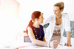 Two female colleagues in office Royalty Free Stock Photography
