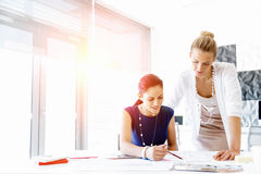 Two female colleagues in office Royalty Free Stock Images